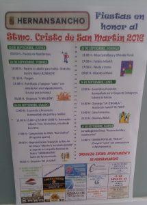 Cartel Fiestas Hernansancho 2016